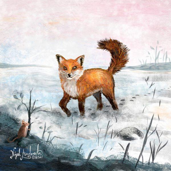 Fox Tracks album cover by Nigel Andreola