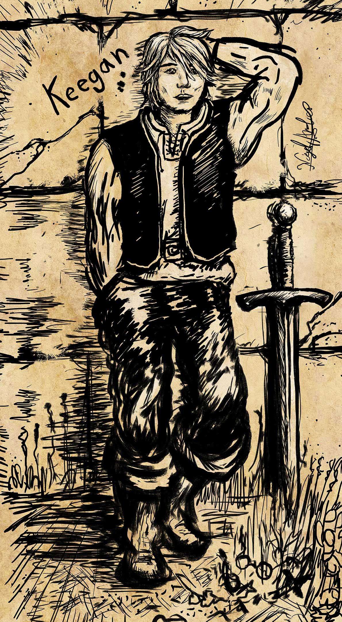 Keegan - Tales of the Wovlen - Drawn by Nigel Andreola