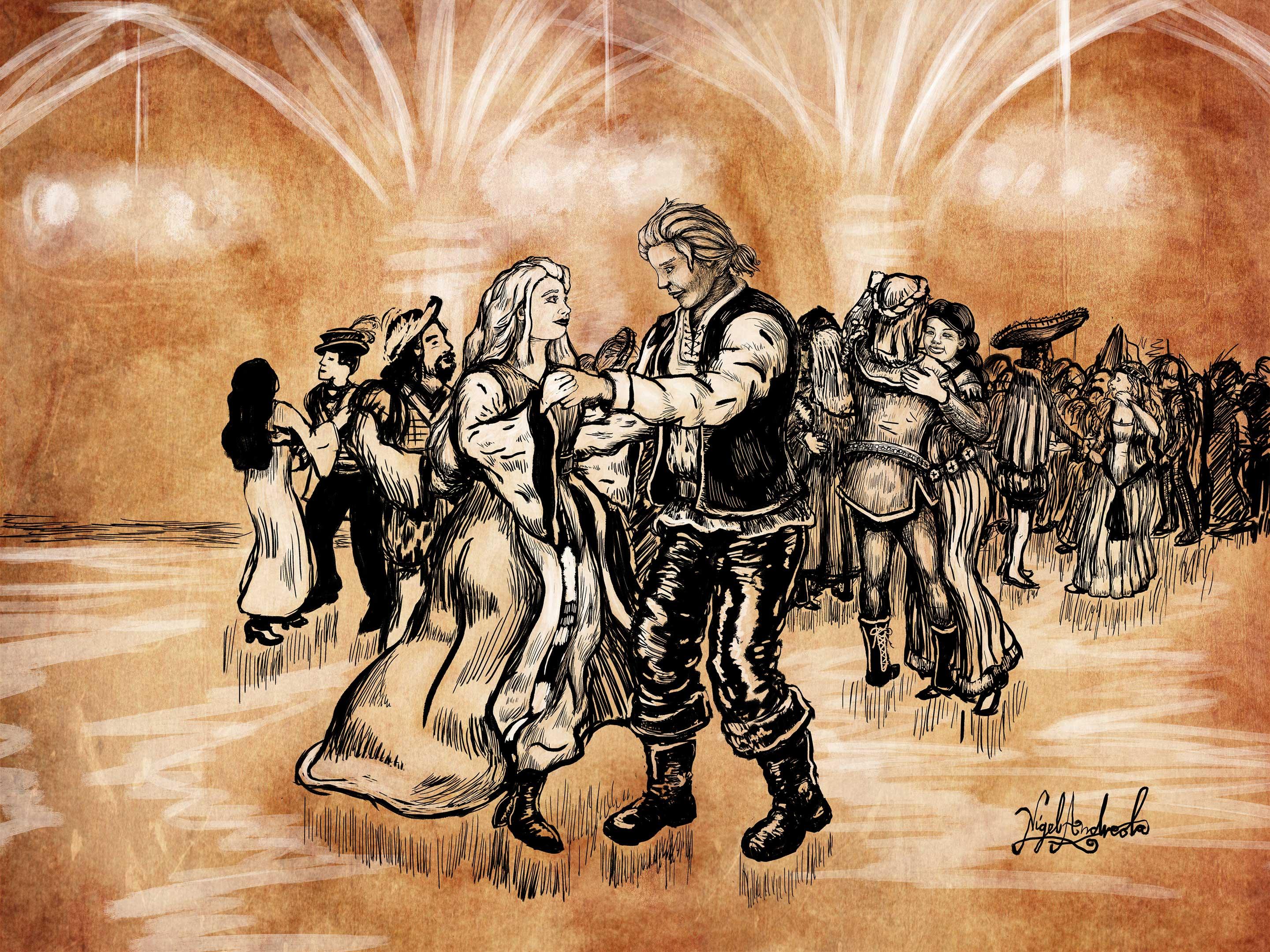 Keegan dancing - Tales of the Wovlen - Nigel Andreola - Starry Night Media