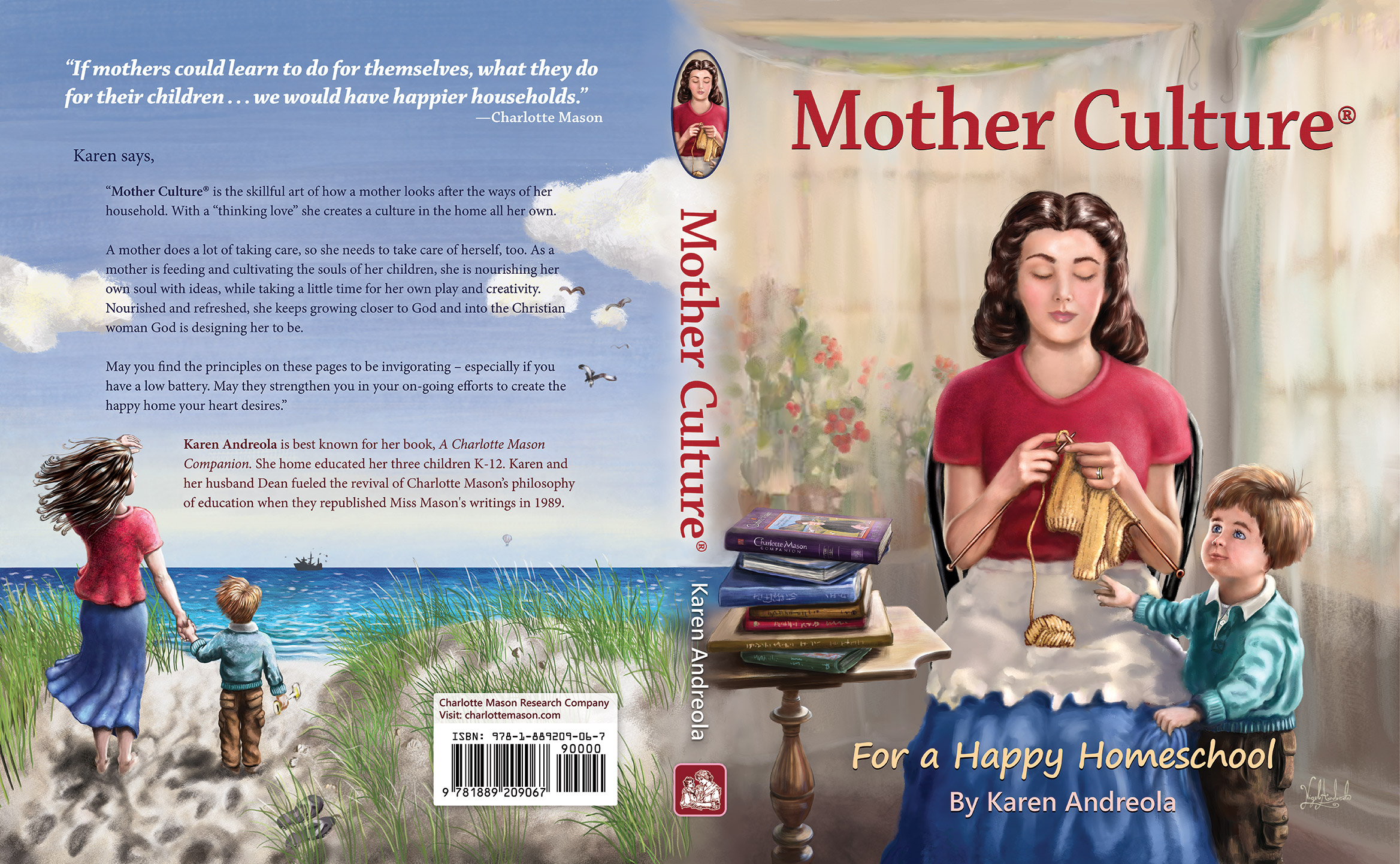Mother Culture book cover front and back by designed by Starry Night Melodies LLC painted by Nigel Andreola