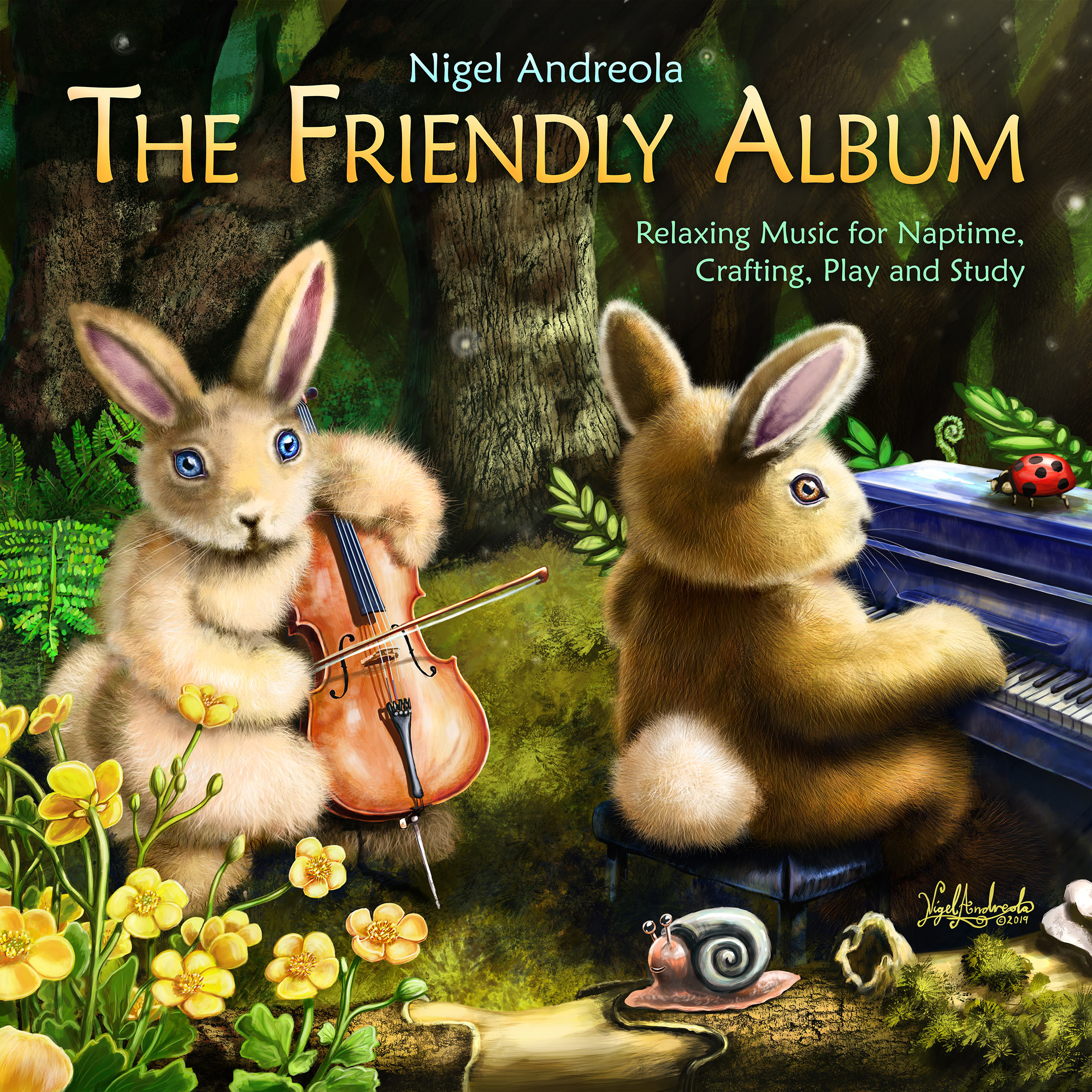 The Friendly Album Relaxing music for naptime and study By Nigel Andreola