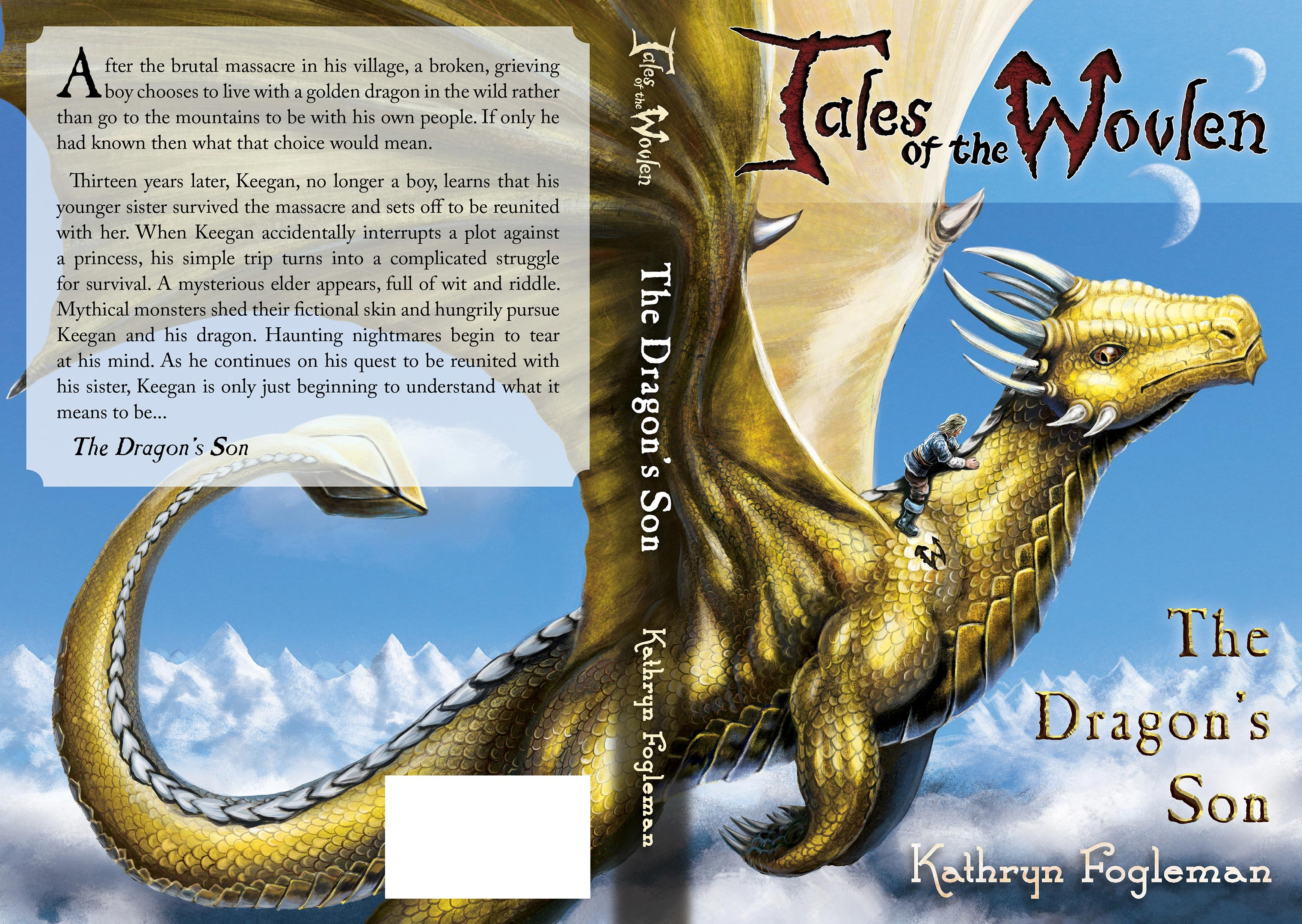full cover Tales of The Wovlen - The Dragons Son - painted by Nigel Andreola